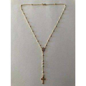 HarlemBling 925 Silver Rosary Beads Necklace